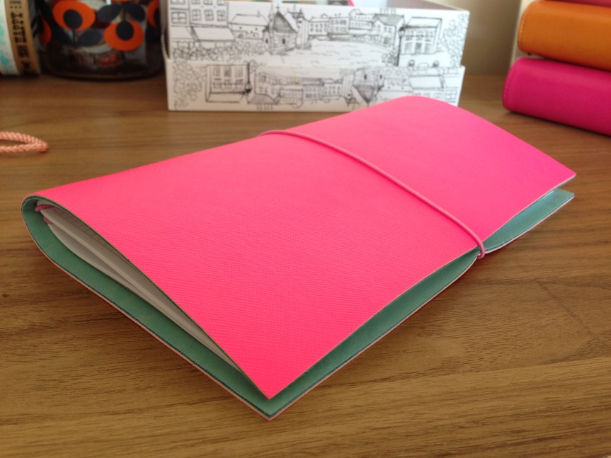 Fluro Pink Travellers Notebook - Fab Five - February Favourites - A Whole Latte Love Blog